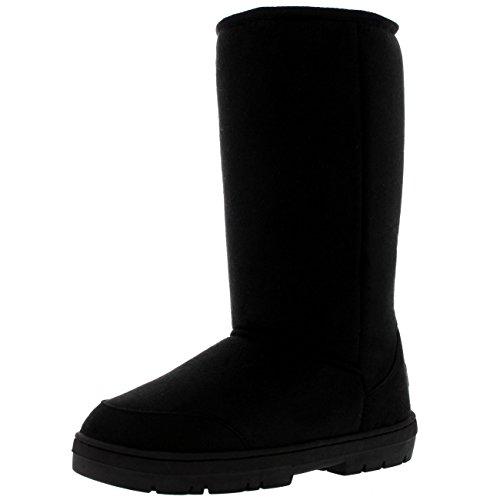 Fur Nieve Classic Invierno Lined Negro Tall Impermeable Original Botas Rain Mujer qB7TtUt
