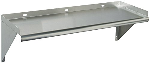 Tarrison WS-1230 Heavy Duty 16 Gauge Stainless Steel Bracket Wall Mounting Below Shelf, 30'' Length x 12'' Depth by Tarrison Products