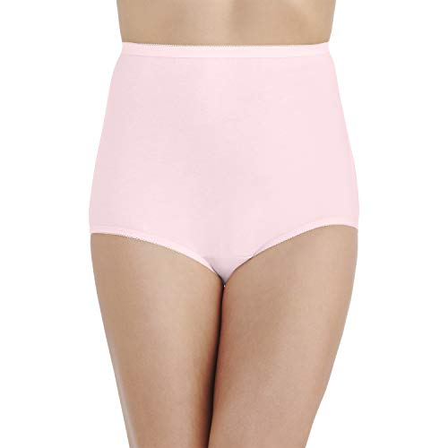 Vanity Fair Women's Perfectly Yours Tailored Cotton Brief Panty 15318, Ballet Pink, 2X-Large/9