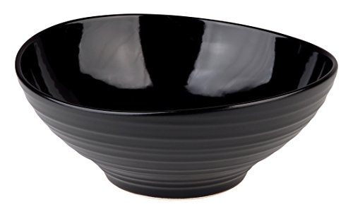 Mikasa Swirl Black Cereal Bowl, 6.75-Inch