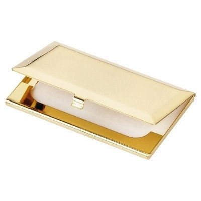 Personalised High Quality Bevelled Gold Business Card Holder Engraved Free