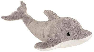 Caddle&Toes Cute 32cm Colorful Stuffed Dolphin Fish Doll Soft Toy Kids Baby Plush Gift (Blue) (Grey)