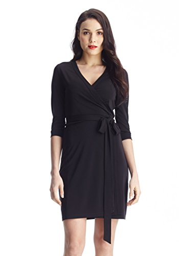 Grapent-Womens-Short-Business-Casual-34-Sleeve-Straight-Shift-True-Wrap-Dress