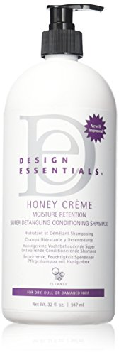 Design Essentials Honey Creme Moisture Retention Super Detangling Conditioning Shampoo, 32 Ounce