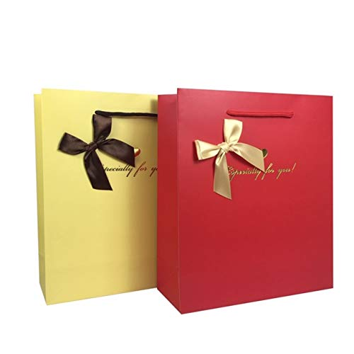 Premium Paper Gift Bags for Presents - Reusable 16 Pcs Set with Cotton Rope Handles & Bow Ribbon Suitable for Any Occasion, Showers, Wedding, Birthday, Party Favor, Bridesmaid Gifts (12