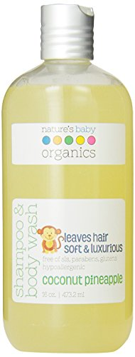 Nature's Baby Organics Shampoo & Body Wash, Coconut Pineapple, 16 oz. |Babies, Kids, & Adults! Natural, Moisturizing, Soft,