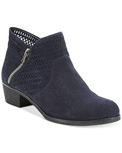 Price comparison product image American Rag Womens Abby Almond Toe Ankle Fashion,  Navy Perforated,  Size 5.0