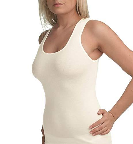 Blackspade Essential White Cotton Singlet Vest Top 1950
