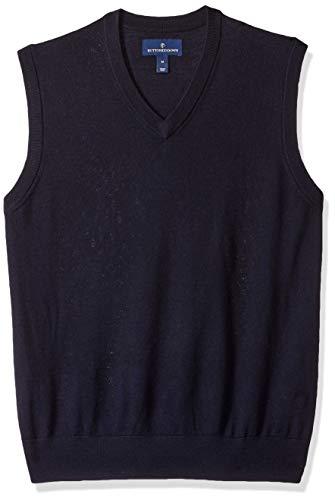 BUTTONED DOWN Mens Italian Merino Wool Lightweight Cashwool Sweater Vest