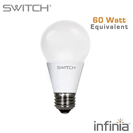 SWITCH Lighting A260FUS27B1-R infinia A19 10 Watt (60-Watt Replacement) 800  sc 1 st  Amazon.com & SWITCH Lighting A260FUS27B1-R infinia A19 10 Watt (60-Watt ...