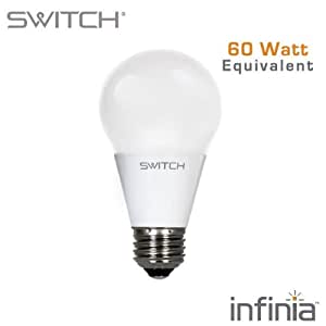 switch lighting a260fus27b1 r infinia a19 10 watt 60 watt replacement 800 lumens led light. Black Bedroom Furniture Sets. Home Design Ideas