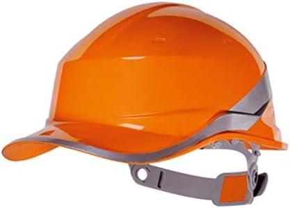 Rui Peng 安全性 ハード帽子 - 安全ヘルメット肥厚ABS労働保護保護ハードヘルメットヘッド保護装置、 (Color : Orange)