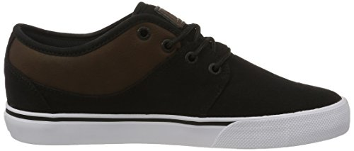 Globe Mahalo, Zapatillas de Skateboard Hombre Negro (Black Twill/brown)