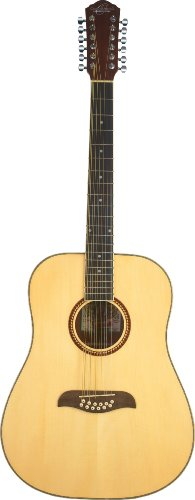(Oscar Schmidt OD312 Natural 12-String Dreadnought Guitar- Natural featuring Handcrafted quality.Rosewood fingerboard & bridge.Fully adjustable truss rod and Chrome die cast tuners )