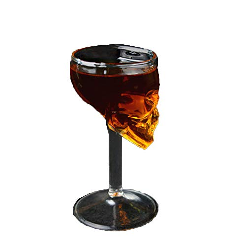 Halloween Party Home Decorated Crystal Cup, Ghost Head Shaped Goblet In Two Pieces, Suitable For The Bar Vodka Whiskey Glass