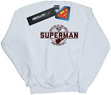 DC Comics Herren Superman Dad Out of This World Sweatshirt Weiß XXX-Large