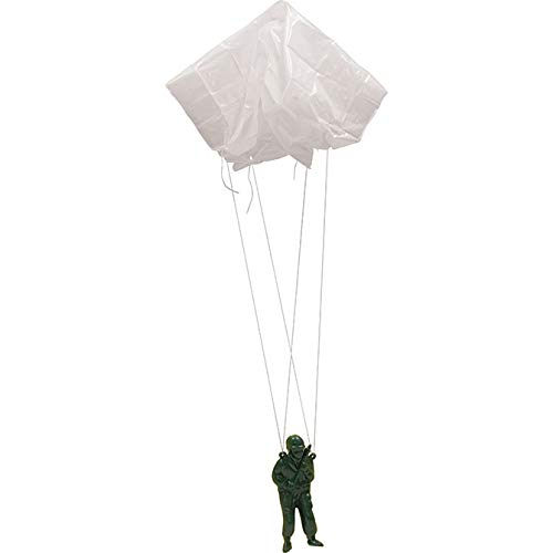 One Dozen Jumbo Paratroopers Parachute Green Army Men - 3.5'' Inches Tall by Army (Image #1)