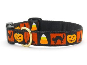 [Up Country- Halloween Motif Style Dog Collar-Medium-FREE SHIPPING!!] (Halloween Free Shipping)