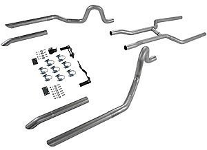 Flowmaster 17107 Header-back System - 2.50 in. Dual Rear Exit - Pipes Only No Mufflers