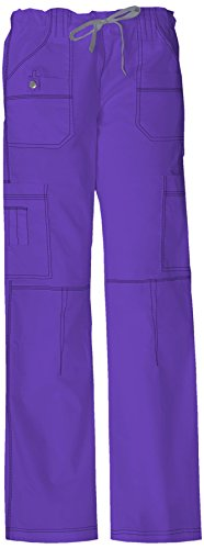 Dickies Women's Genflex Cargo Scrubs Pant, Wine, Large
