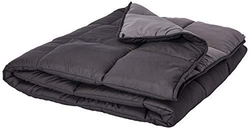 Linenspa All-Season Reversible Down Alternative Quilted Comforter - Hypoallergenic - Plush Microfiber Fill - Machine Washable - Duvet Insert or Stand-Alone Comforter - Black/Graphite - Twin