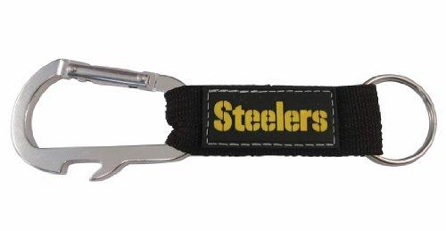 NFL Pittsburgh Steelers Carabineer Keychain, Black, One Size