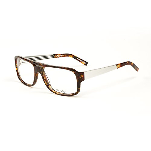 89be3833b64 J.F. Rey Oversized Eyeglass Frames 57mm Havana Aluminum