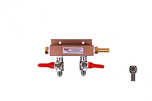 (Co2 Air Distributor - 2 Way, MFL Check Valves, 5/16