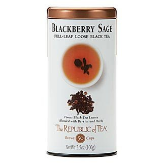 - The Republic Of Tea Blackberry Sage Full-Leaf Black Tea, 3.5 Ounces / 50-60 Cups (Refill Bag)