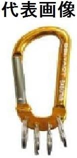 DBLTACT アルミカラビナ キーリング付き8mm ガンメタXゴールド DBLTACT -AKT-381