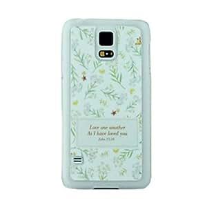 HC-El patrón de las hojas del estuche rígido para Samsung Galaxy i9600 S5