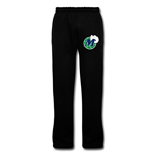 Dallas Mavericks Block - Men's Dallas Mavericks Logo Cool Sweatpants With Pockets XL Black By Rahk