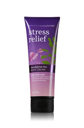 Bath Body Works Aromatherapy Stress Relief Eucalyptus Tea 8.0 oz Body Cream