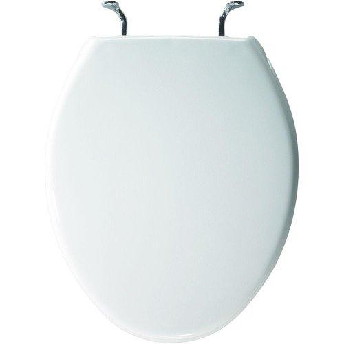 Bemis 800CCP 000 Commercial Plastic Round Toilet Seat White by Bemis (Image #2)