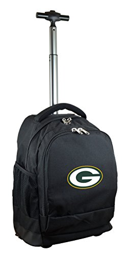 Green Wheeled Backpacks (NFL Green Bay Packers Expedition Wheeled Backpack, 19-inches, Black)