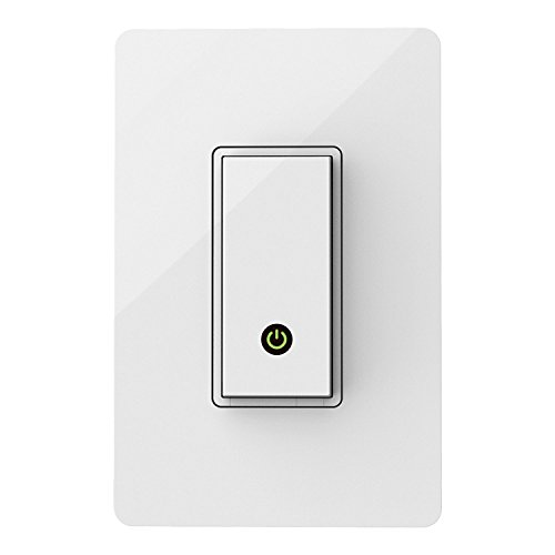 Wemo Light Switch, Wi-Fi enabled, Compatible with Alexa and Google Assistant (Certified Refurbished) (F7C030)