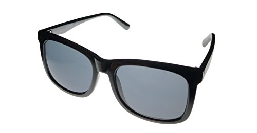Kenneth Cole Reaction Mens Square Shiny Black Plastic Sunglass KC1324 1A