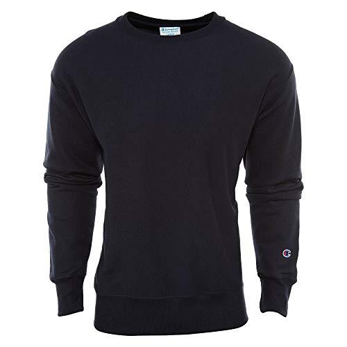 Champion LIFE Men's Reverse Weave Sweatshirt, Navy, L (Cable Mens Crewneck)
