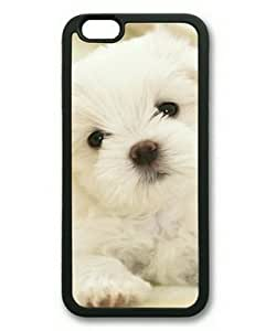 iPhone 6 Case,Maltese White Puppy TPU Rubber Shell Black Cover Case for iPhone 6(4.7Inch) by ruishername