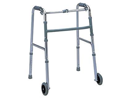 Deambulatore Per Anziani Con 2 Ruote Anteriori Altezza Regolabile