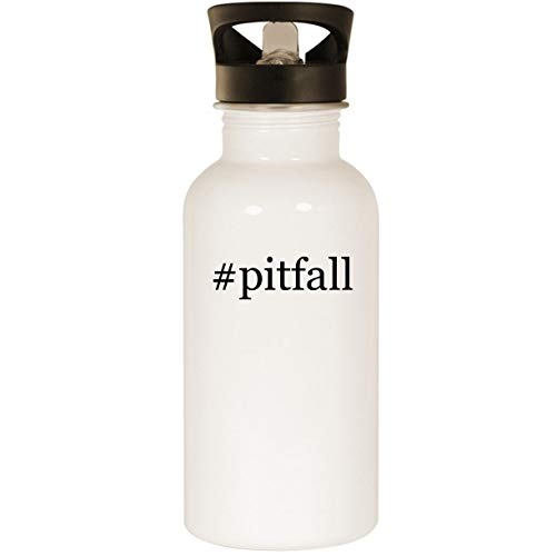 (#pitfall - Stainless Steel Hashtag 20oz Road Ready Water Bottle, White)