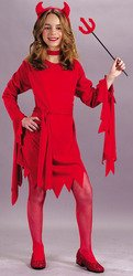 Fun World girls devil tutu classic medium halloween costume 8-10 Red