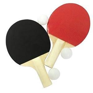Tischtennisset 5 Teilig, 2 Tischtennis Schläger und 3 Bälle, 31872