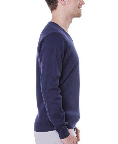 FYNCH HATTON Herren Pullover V-neck V-Ausschnitt Active 141-411-414 navy dunkelblau S-XXL