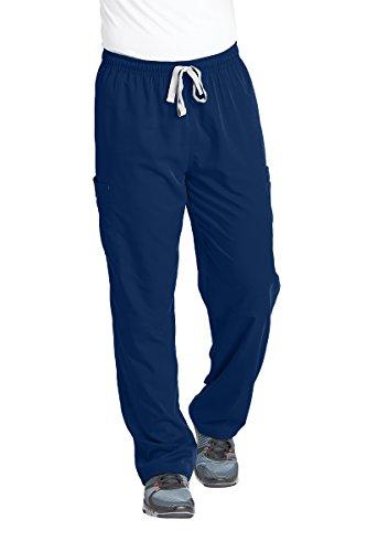 Grey's Anatomy Men's Modern Fit Cargo Scrub Pant, Indigo, Large (Mens Tall Scrubs)