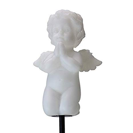 Florals Solar Cherub Cupid Angel Lights, Garden Stake Outdoor Yard Decor Landscape LED Lamp Lights, Great Gift