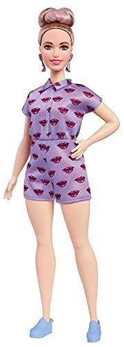 Boneca Barbie Fashionistas 75 Lavander Kiss Curvy FBR37 - Mattel