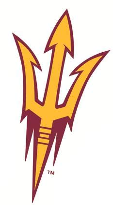 (5 Inch ASU Trident Logo Decal Pitchfork Arizona State University Sun Devils AZ Removable Wall Sticker Art NCAA Home Room Decor 3 by 5 Inches )