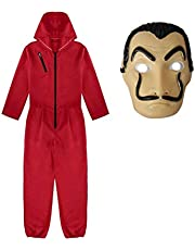 La Casa De Papel Cosplay Jumpsuit Costume with Masks for Fancy Party Costume Costume Accessory Costumes For Unisex