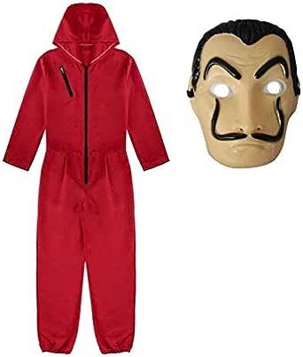 La Casa De Papel Red Coverall Dali jumpsuit cosplay costume Costume Accessory Costumes For Unisex